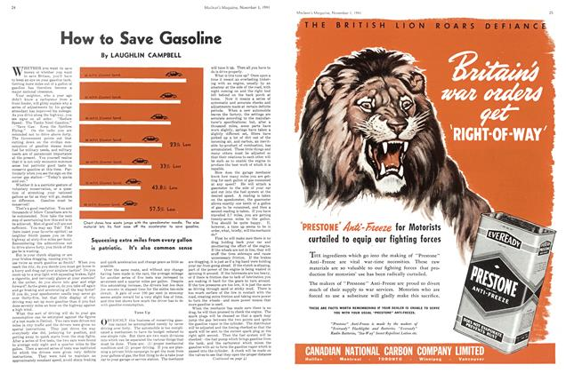 Article Preview: How to Save Gasoline, November 1941 | Maclean's
