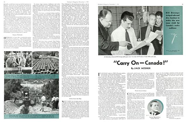 """Article Preview: """"Carry On """" Canada !"""", November 1941 