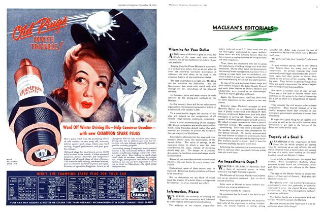 Article Preview: Vitamins for Your Dollar, November 1941 | Maclean's