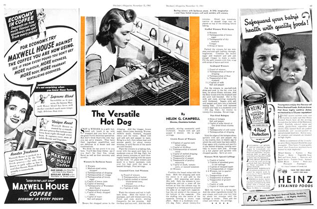 Article Preview: The Versatile Hot Dog, November 1941 | Maclean's