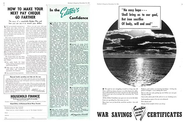Article Preview: In the Editor's Confidence, November 1941 | Maclean's