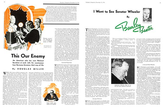 Article Preview: I Went to See Senator Wheeler, November 1941 | Maclean's