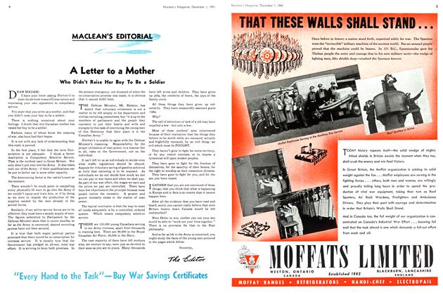 Article Preview: A Letter to a Mother, December 1941 | Maclean's