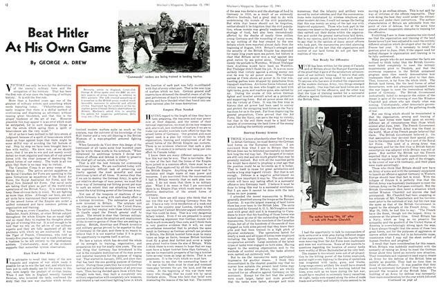 Article Preview: Beat Hitler At His Own Game, December 1941 | Maclean's