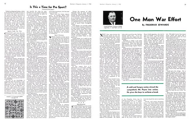 Article Preview: One Man War Effort, January 1942 | Maclean's