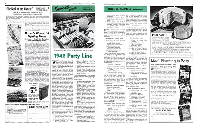 Article Preview: 1942 Party Line, January 1942 | Maclean's