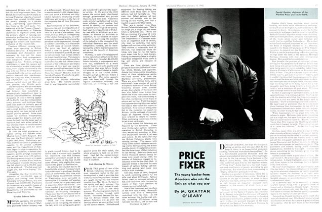 Article Preview: PRICE FIXER, TORONTO JANUARY 15 1942 1942 | Maclean's