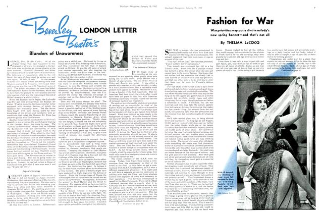 Article Preview: Beverley Baxter's LONDON LETTER, TORONTO JANUARY 15 1942 1942 | Maclean's