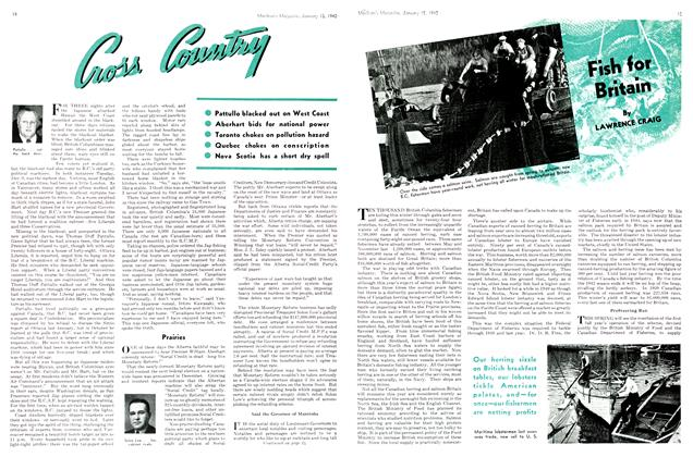 Article Preview: Fish for Britain, TORONTO JANUARY 15 1942 1942 | Maclean's