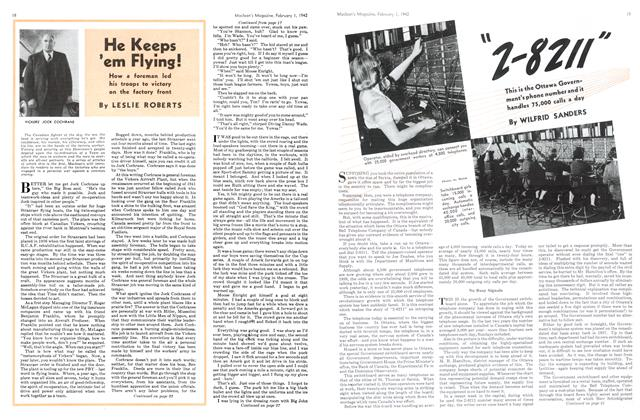 Article Preview: He Keeps 'em Flying!, February 1942 | Maclean's