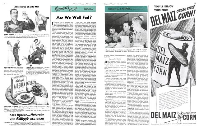 Article Preview: Are We Well Fed?, February 1942 | Maclean's