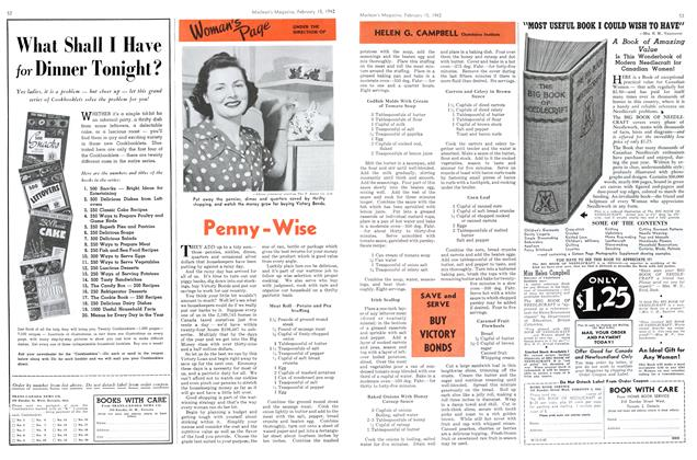 Article Preview: Penny-Wise, February 1942 | Maclean's