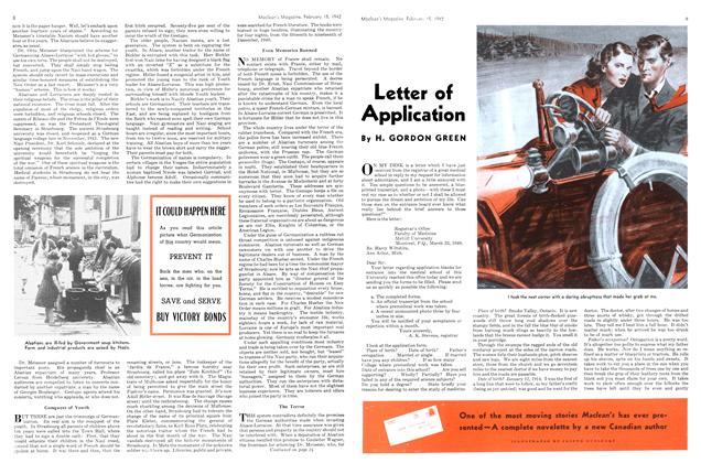 Article Preview: Letter of Application, February 1942 | Maclean's