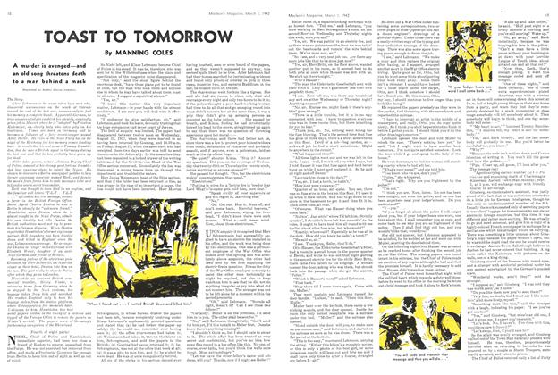 Article Preview: TOAST TO TOMORROW, March 1942 | Maclean's