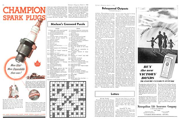 Article Preview: Maclean's Crossword Puzzle, March 1942 | Maclean's