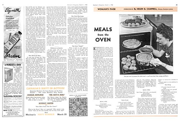 Article Preview: MEALS from the OVEN, March 1942 | Maclean's