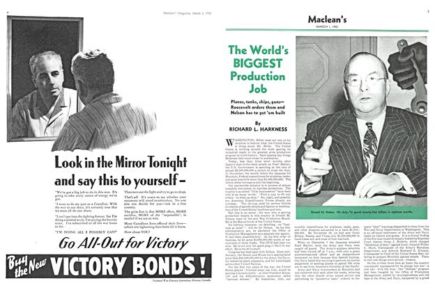 Article Preview: The World's BIGGEST Production Job, March 1942 | Maclean's