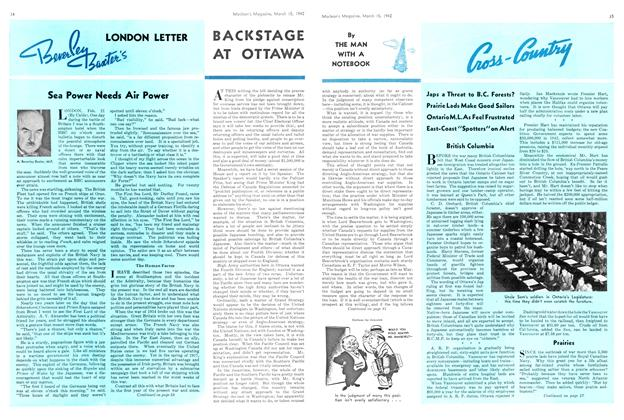 Article Preview: LONDON LETTER Beverley Baxter's, March 1942 | Maclean's