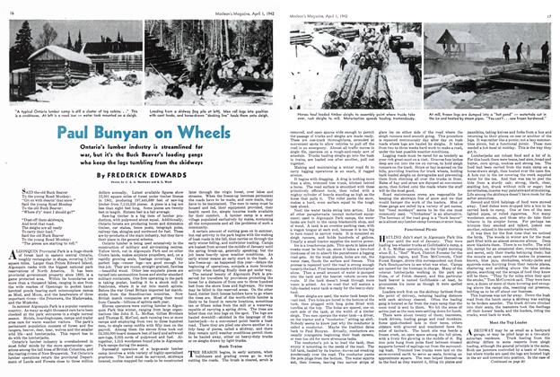Article Preview: Paul Bunyan on Wheels, April 1942 | Maclean's