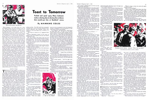 Article Preview: Toast to Tomorrow, April 1942 | Maclean's