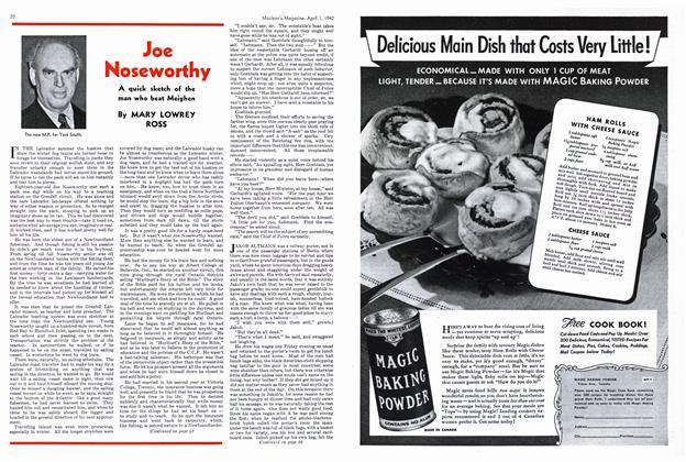 Article Preview: Joe Noseworthy, April 1942   Maclean's