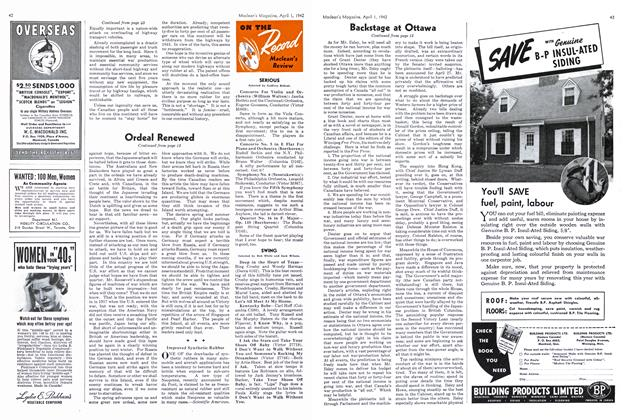 Article Preview: ON THE Record Maclean's Review, April 1942   Maclean's