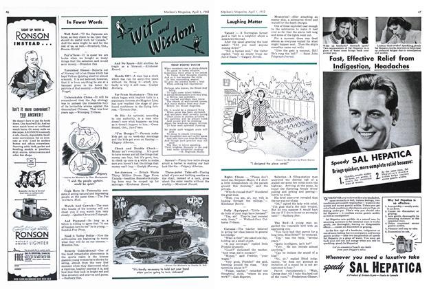 Article Preview: Laughing Matter, April 1942 | Maclean's