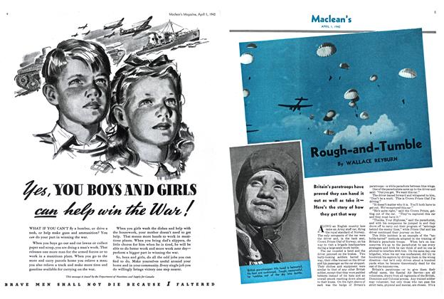 Article Preview: Rough-and-Tumble, April 1942   Maclean's