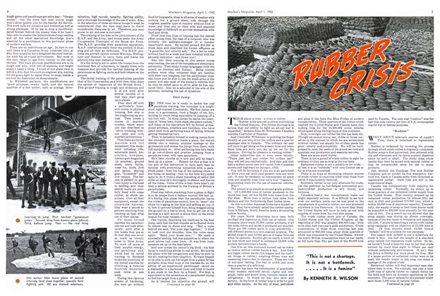 Article Preview: RUBBER CRISIS, April 1942 | Maclean's