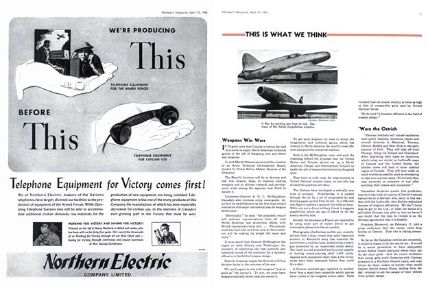 Article Preview: THIS IS WHAT WE THINK, April 1942 | Maclean's
