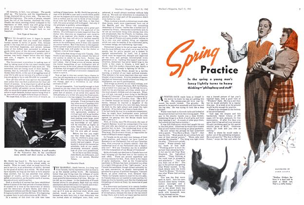 Article Preview: Spring Practice, April 1942 | Maclean's