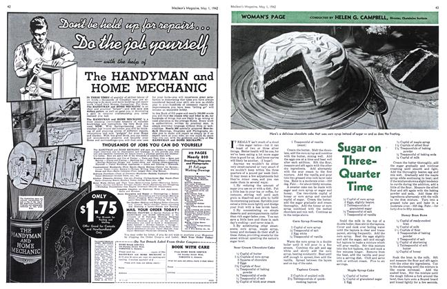Article Preview: Sugar on Three-Quarter Time, May 1942 | Maclean's