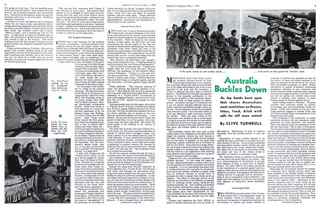 Article Preview: Australia Buckles Down, May 1942 | Maclean's