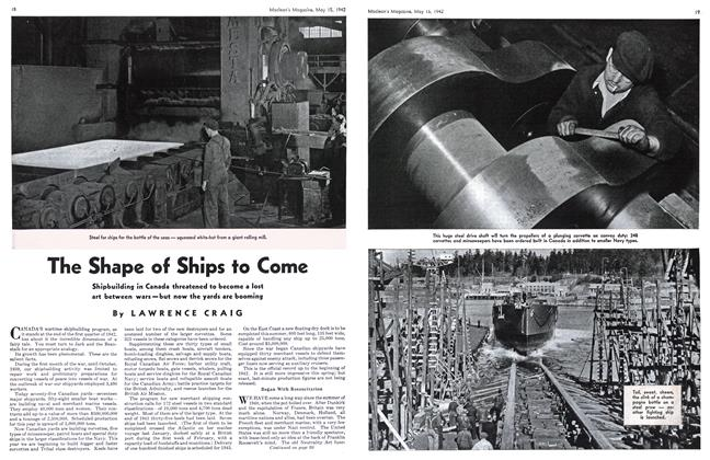 Article Preview: The Shape of Ships to Come, May 1942 | Maclean's