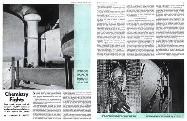 Article Preview: Chemistry Fights, May 1942 | Maclean's