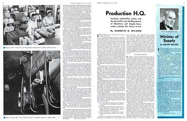Article Preview: Production H.Q., May 1942 | Maclean's