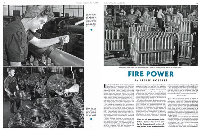 Article Preview: FIRE POWER, May 1942 | Maclean's