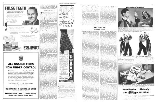 Article Preview: LAKE LIFELINE, June 1942   Maclean's