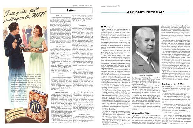 Article Preview: MACLEAN'S EDITORIALS, June 1942 | Maclean's