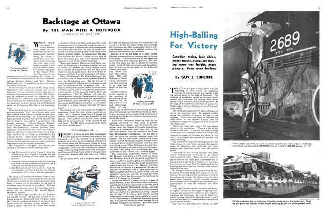 Article Preview: High-Balling For Victory, June 1942 | Maclean's