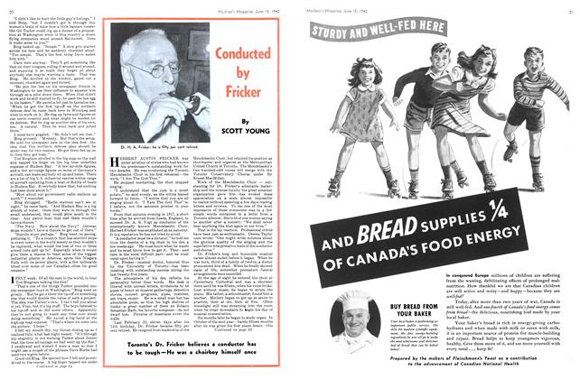 Article Preview: Conducted by Fricker, June 1942   Maclean's
