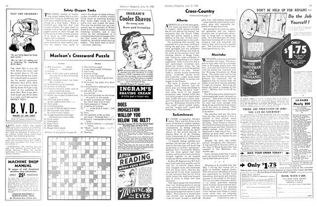 Article Preview: Maclean's Crossword Puzzle, June 1942 | Maclean's