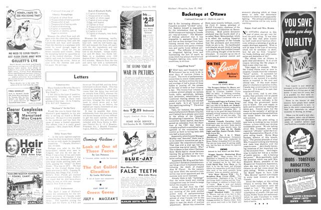 Article Preview: ON THE Record Maclean's Review, June 1942 | Maclean's