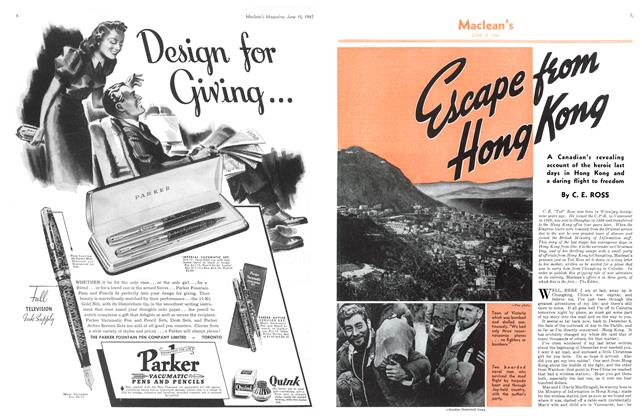 Article Preview: Escape from Hong Kong, June 1942 | Maclean's