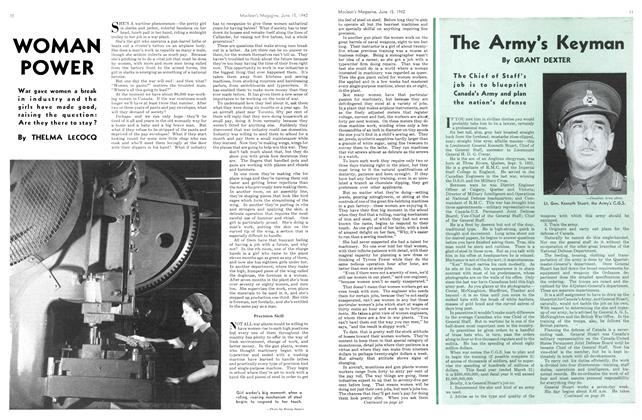 Article Preview: The Army's Keyman, June 1942 | Maclean's