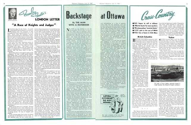 Article Preview: Backstage at Ottawa, June 1942 | Maclean's