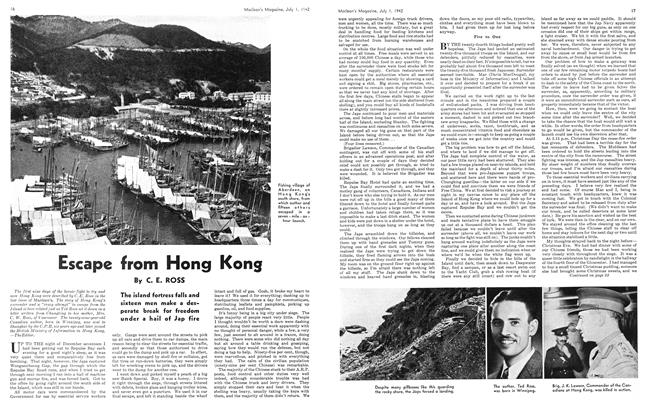 Article Preview: Escape from Hong Kong, July 1942 | Maclean's