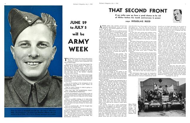 Article Preview: THAT SECOND FRONT, July 1942 | Maclean's