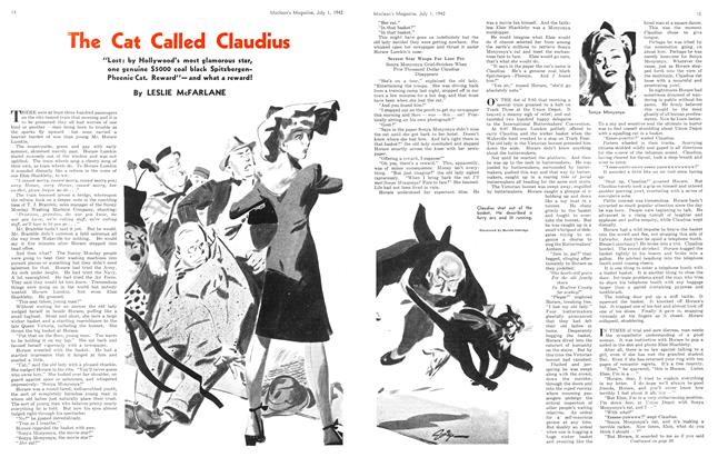 Article Preview: The Cat Called Claudius, July 1942 | Maclean's