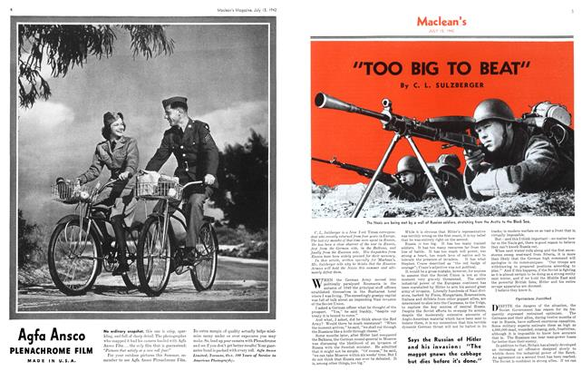 """Article Preview: """"TOO BIG TO BEAT"""", July 1942 